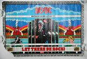 Ac/dc Signed Malcolm Phill Cliff Uk Europe Tour 1977 Let There Be Rock Poster