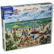 White Mountain Puzzles Beach Day Seek And Find-1000 Piece Puzzle-designer Mary…