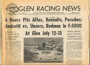 Glen Racing News 6/23/1975-andretti-unser-redman-hobbs And More-road Race Stori...