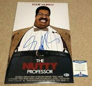 Eddie Murphy Signed Nutty Professor 12x18 Photo Poster Coming To America Bas