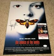 Jodie Foster Signed 12x18 Movie Poster Photo The Silence Of The Lambs Bas