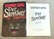 Stephen King Signed Pet Sematary 1st/1st Hardcover Book Author It Shining Rare