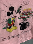 Vintage 70s Mickey T-shirt Walt Disney Productions Gee Somebody Cares Birthday S