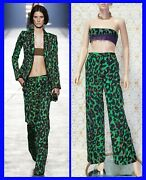 S/s 2016 Look 13 Versace Military Camouflage Printed Pants Size 38 - 2