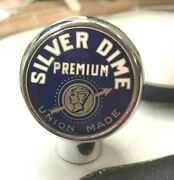 Rare Vintage Silver Dime Beer Ball Tap Knob / Handle Chester Brewing Chester Pa