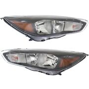Fo2502337 Fo2503337 Headlight Lamp Left-and-right Lh And Rh For Ford Focus 15-18