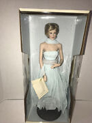 Diana Princess Of Wales Porcelain Doll Franklin Mint New In Box