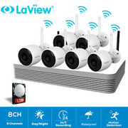 Laview Ip Cameras Wifi Security System1080p Hd 8ch 265+ Nvr Hdd 1tb 6 Bullet Cam
