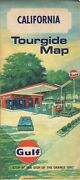 Vintage California Road Tourgide Map Gulf Gas Service Stations