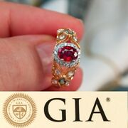 Rare Untreated Natural Ruby Alexandrite 18k Gold Ring Gia Certificate