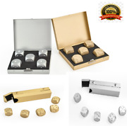 Stainless Steel Ice Cubes Reusable For Whiskey Wine Bucket Cool Game Dice Stones