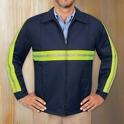 Red Kap Menand039s Enhanced Visibility Perma Lined Panel Jacket
