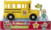 Cocomelon Musical Yellow School Bus And Jj Figure - Brand New