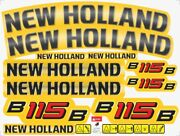 New Holland B115b Backhoe Decals / Stickers Compatible Complete Set / Kit