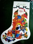 Dimensions Crewel Stitchery Christmas Stocking Kit, A Visit With Santa,rigg,8043