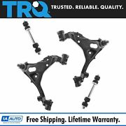 Trq 4 Pc Suspension Kit Front Lower Control Arms Sway Bar Links For Ford Lincoln