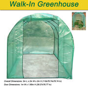 3x2x2m Walk In Green House Removable Frame Outdoor Plant Garden Greenhouse