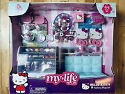 """My Life As Hello Kitty Cafe Bakery 44 Pc Play Set For 18"""" Doll Food Tea In Hand"""