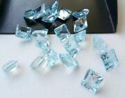 Sky Blue Topaz Calibrated Natural Square Faceted Cut 11mm To 15mm Loose Gemstone