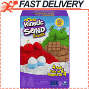 Kinetic Sand Scents 32oz 4-pack Of Cherry Apple Chocolate And Vanilla Scented