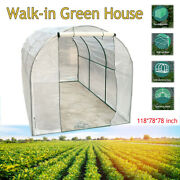 Walk-in Greenhouse Steel Frame And Pe Cover Outdoor Garden Grow Bag Green House Us
