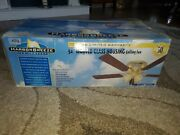 Vintage Harbor Breeze Ceiling Fan Glass Lighted Glass Housing 52 New Brass