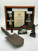 Stalingrad Collectables Including 1943 Russian Anti-tank Shell Medals + More
