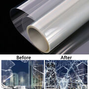 Clear Security Window Film 4mil Anti Uv Adhesive Anti Shatter Safety Glass Home