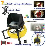 7 Inch Wifi Wireless Hd 1080p Pipe Sewer Inspection Video Camera Ip68 Dvr Video