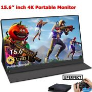 Portable Light-slim Gaming Monitor 15.6and039and039 4k Ips Screen Speakers For Computer