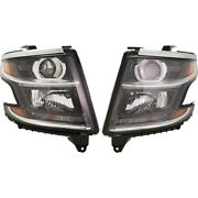 Pair Set Of 2 Headlights Lamps Left-and-right For Chevy 84582572, 84294342 Tahoe
