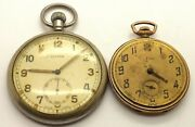 2 Antique Cyma Pocket Watches For Spares Or Repairs