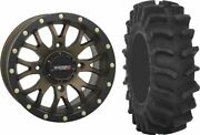 Mounted Wheel And Tire Kit Wheel 18x7 4+3 4/156 Tire 33x9.5-18 8 Ply