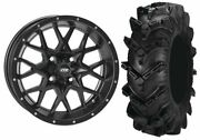 Mounted Wheel And Tire Kit Wheel 14x7 4+3 4/156 Tire 30x10-14 6 Ply