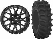 Mounted Wheel And Tire Kit Wheel 18x6.5 4+2.5 4/156 Tire 33x9.5-18 8 Ply