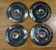 Vintage 1960and039s Ford Dog Dish Hubcap 63 64 Original Used Set Of 4