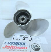 Johnson Evinrude Omc 390831 Propeller 15.5 X 14 Oem Used Factory Boat Parts