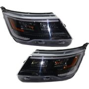 Hid Headlights Lamps Set Of 2 Left-and-right Hid/xenon Lh And Rh For Explorer Pair