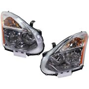 Hid Headlights Lamps Set Of 2 Left-and-right Hid/xenon Lh And Rh For Rogue Pair