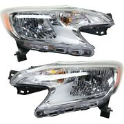 Pair Set Of 2 Headlights Lamps Left-and-right 260109mb0a 260609mb0a Lh And Rh