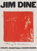 Jim Dine And039and039the Red Bandanaand039and039 1971 Signed Lithograph Wonderful Frame