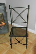 Handmade Wrought Iron Side Chair Patio Garden Home Furniture Outdoor And Indoor