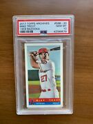 2017 Topps Archives Mike Trout 1959 Bazooka 59b-20 Gem Mint Psa 10 Very Rare