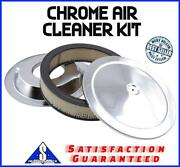 14 Chrome Air Cleaner Kit Breather Filter Hot Rat Rod Fit Ford Chevy Sbc Bbc