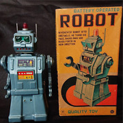 Antique Japanese Tin Toys Yonezawa Toys Battery Operated Robot Quality Toy M