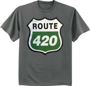 Mens Big And Tall 420 Sign Funny Pot Weed T-shirt Graphic Tee Clothing Apparel