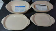 Tupperware Oval Containers Microwave Safe Cookware Almond 6 Piece Set New