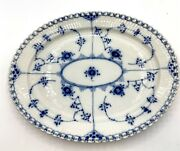 Stunning 12 Oval Plate Royal Copenhagen Blue Fluted Full Lace
