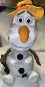 Disney Frozen Olaf Snowman 16andrdquo Plush Talking Singing Moving Just Play Hat Cane