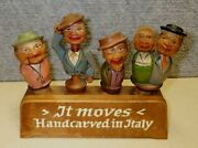 4 Anri Vintage Bottle Stoppers It Moves Handcarved In Italy Base
